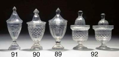 A cut-glass preserve-jar and a