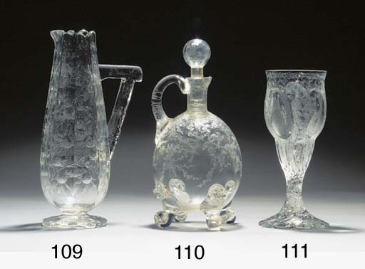 A Stourbridge 'rock crystal' v