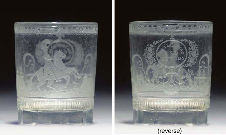 An engraved tumbler to commemo