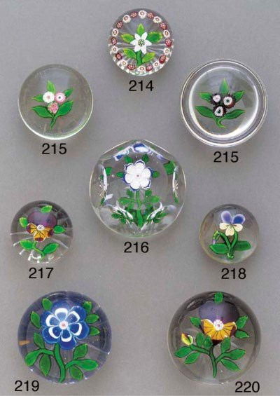 A Baccarat miniature pansy wei