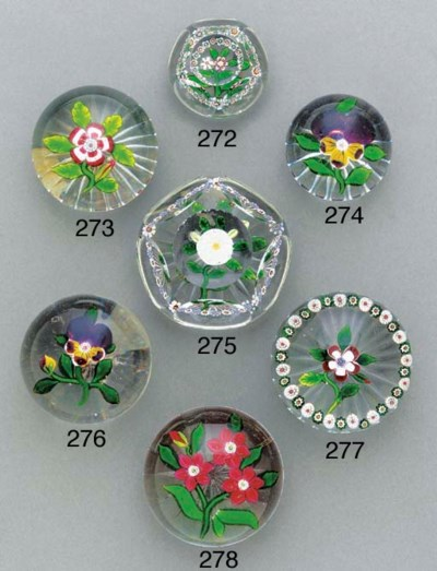 A Baccarat miniature faceted g