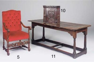An oak refectory table, early