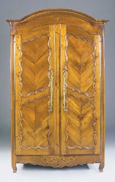 A French cherrywood armoire, e