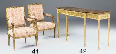 A giltwood and painted console