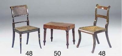 An early Victorian mahogany bi