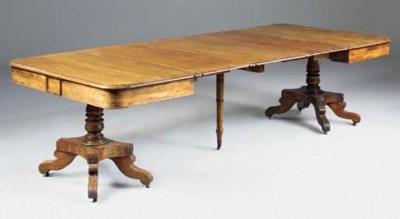 An early Victorian mahogany tw