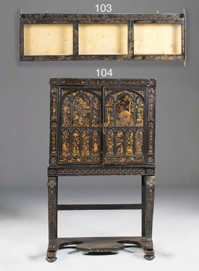 A VICTORIAN BLACK LACQUERED GI