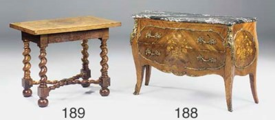 A Flemish rosewood sidetable,