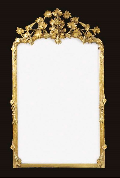 A gilt gesso overmantel, early