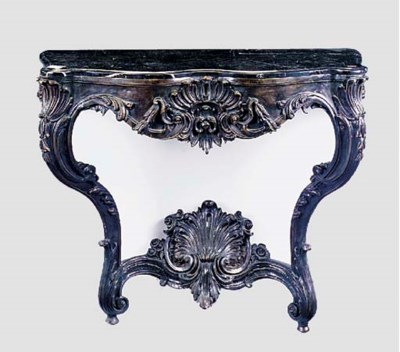 A bronzed metal console, 20th