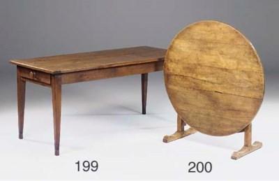 A French oak table, 20th centu