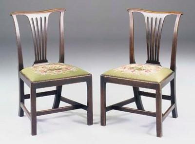 A pair of George III mahogany