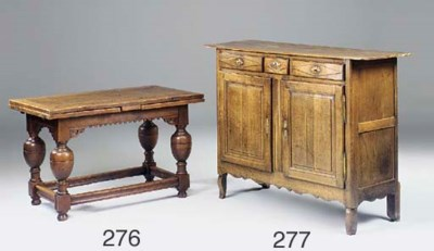 A French oak buffet, 19th cent