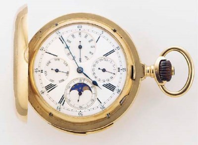 A 14ct. GOLD MINUTE REPEATING