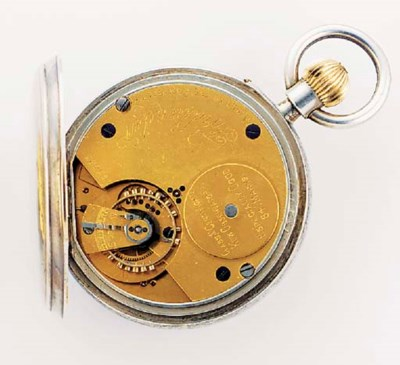 A SILVER OPEN FACED KEYLESS LE