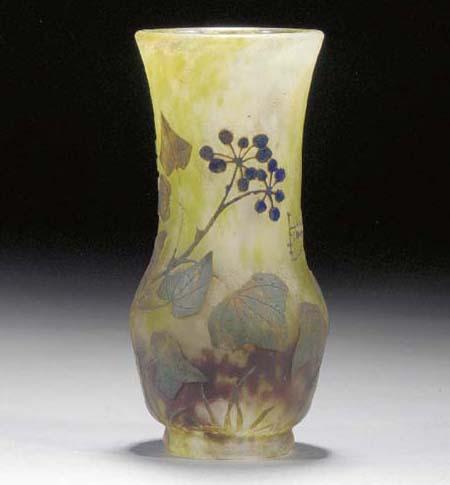 A Daum cameo glass vase