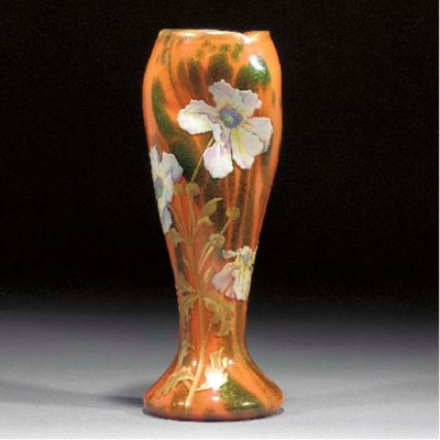 A French gilt and enamelled or