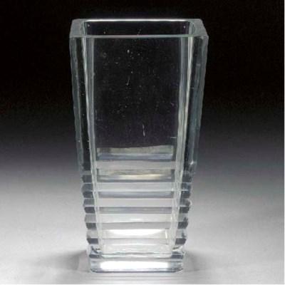 A Jean Luce cut-glass vase