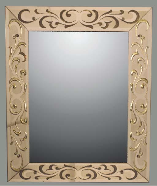 An Art Deco wall mirror