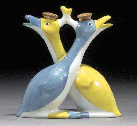 A Théodore Haviland porcelain oil and vinegar