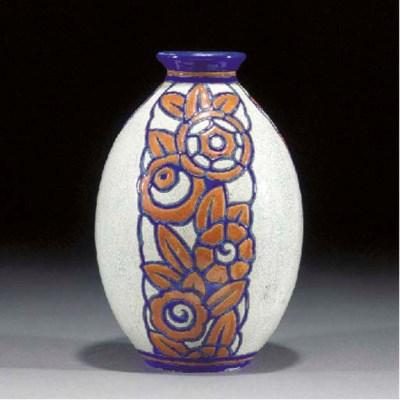 A Boch Frères pottery vase