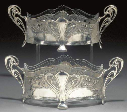 A pair of small WMF silvered m
