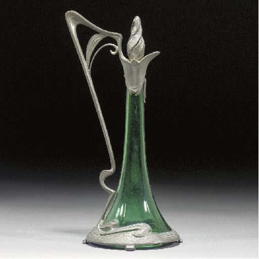 A German Art Nouveau pewter an