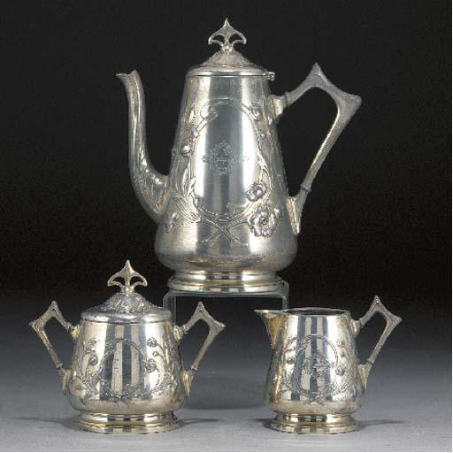 A WMF silvered metal tea servi