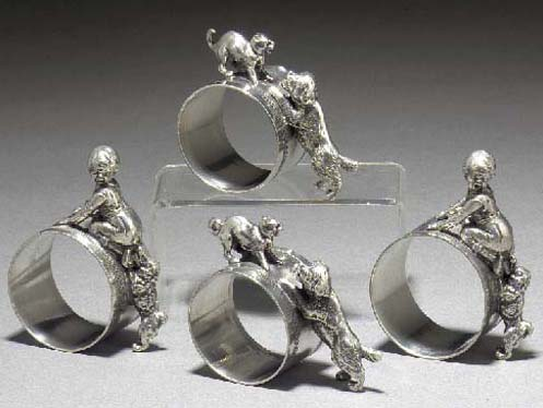 A set of four WMF silvered met