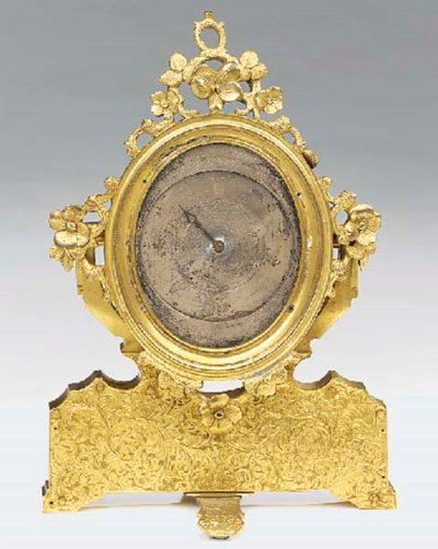 A French engraved gilt-metal d