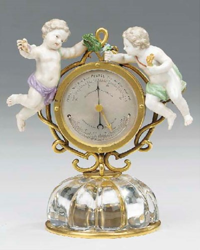 A French gilt-metal, glass and