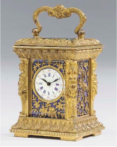 A French gilt-brass mignonnett