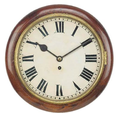 An English mahogany dial clock