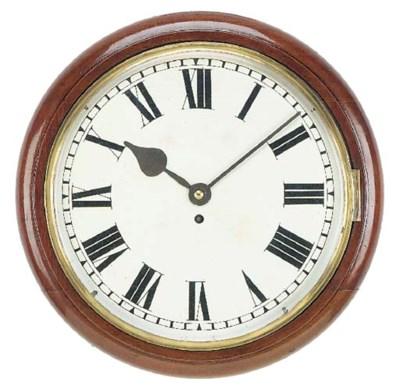 An English large mahogany dial