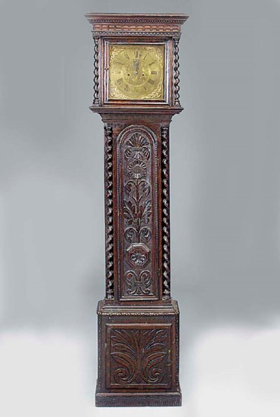 A George III carved oak longca