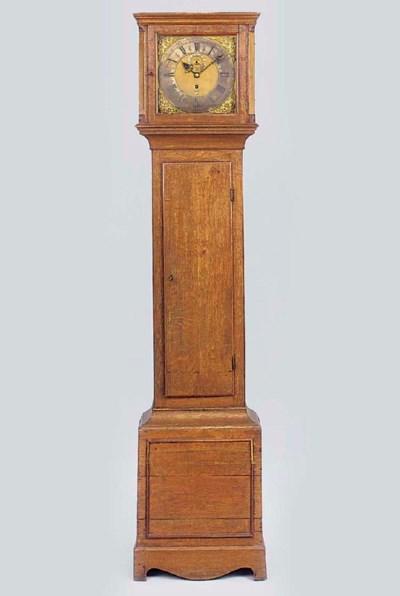 An English oak longcase timepi