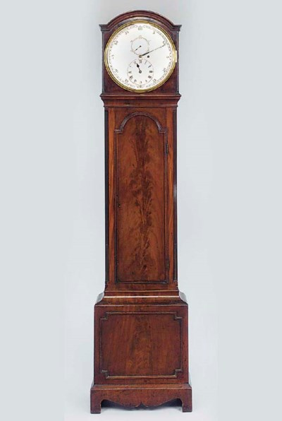 An English mahogany longcase r