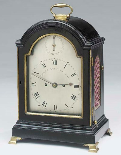 A Regency ebonised and brass-m