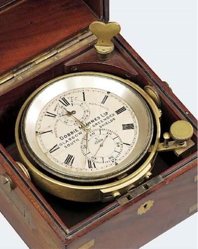 A late Victorian brass-bound m