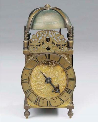 A Charles I brass lantern cloc