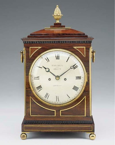 A Regency rosewood striking br