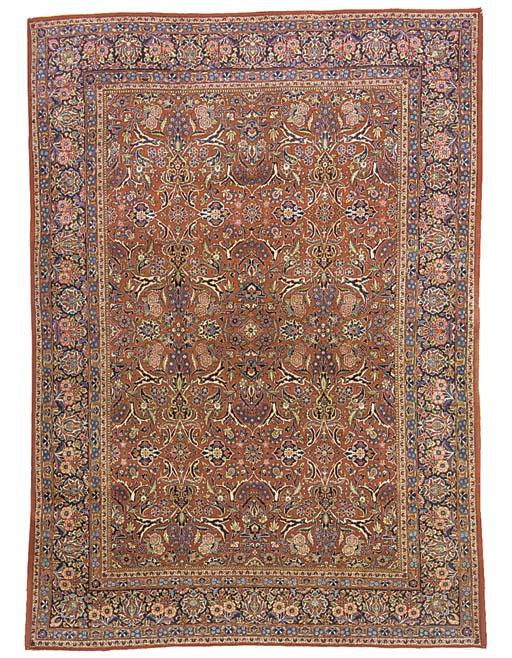 A fine Kashan carpet, Central Persia