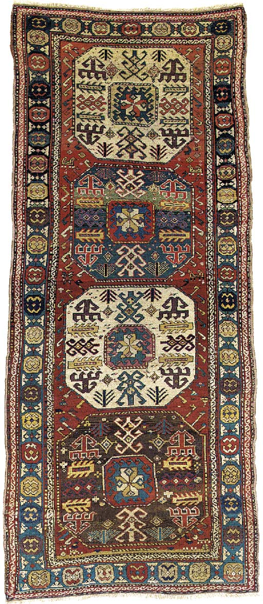 An antique Chajli rug, South Caucasus