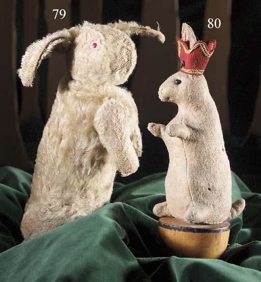 A Steiff rabbit skittle kingpi
