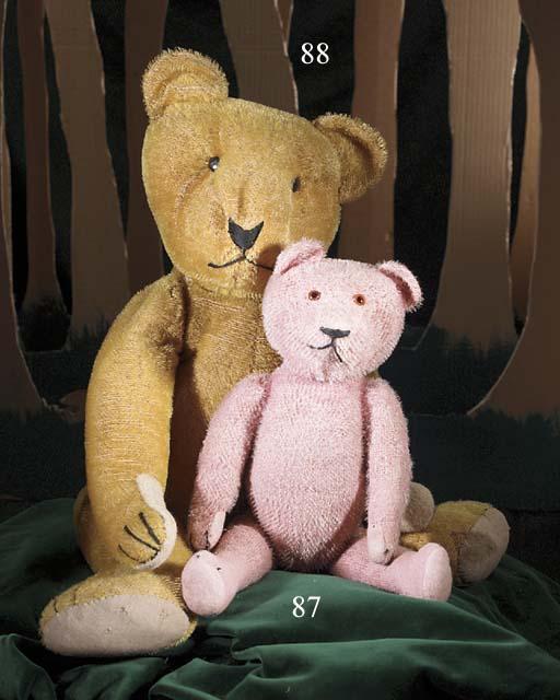 A pink teddy bear