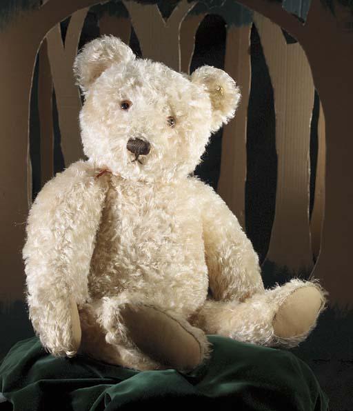 A large 1950s Steiff teddy bea