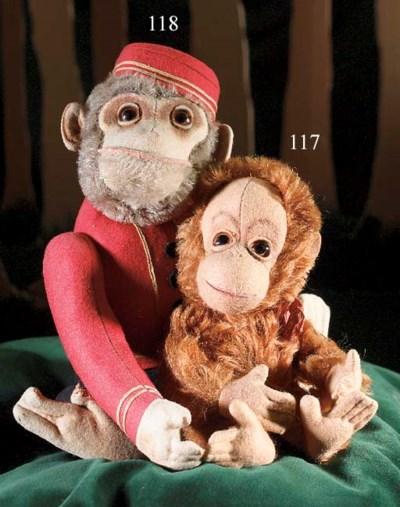 A Schuco yes/no monkey bellhop