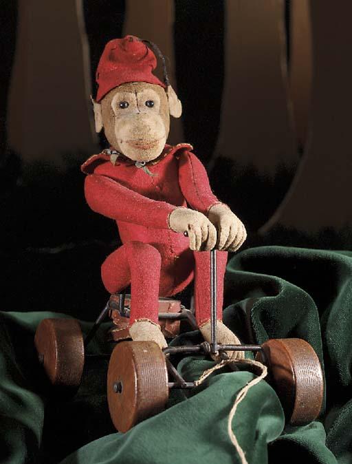 A Steiff felt Record monkey