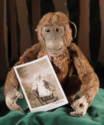 A Steiff chimpanzee
