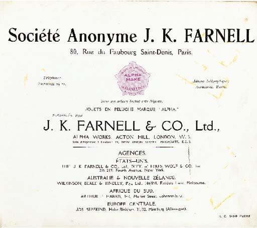 A rare J.K. Farnell & Co. cata